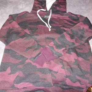 Pink Victoria Secret Red Camo Bling Pullover